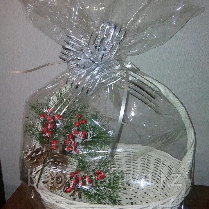 Прозрачный упаковочный пакет для оформления подарочной корзины, размер 50*70 см