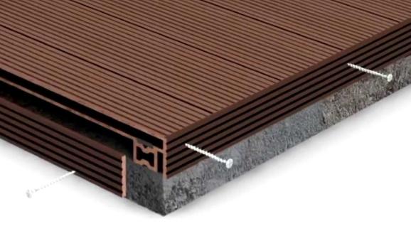 Монтаж террасной доски на бетонное основание