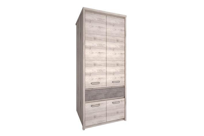 Шкаф для одежды 4Д  Джаз, Каштан найбори Светлый, Анрэкс (Беларусь), фото 2