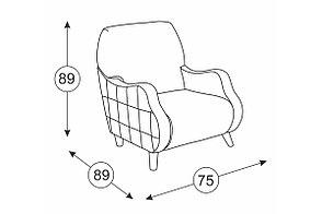 Кресло традиционное Робби, ТК233, Нижегородмебель и К (Россия), фото 3