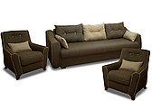 Кресло традиционное как часть комплекта Мальта 1М, Quatro 02/ Quatro 14, Мебельный Формат (Россия)