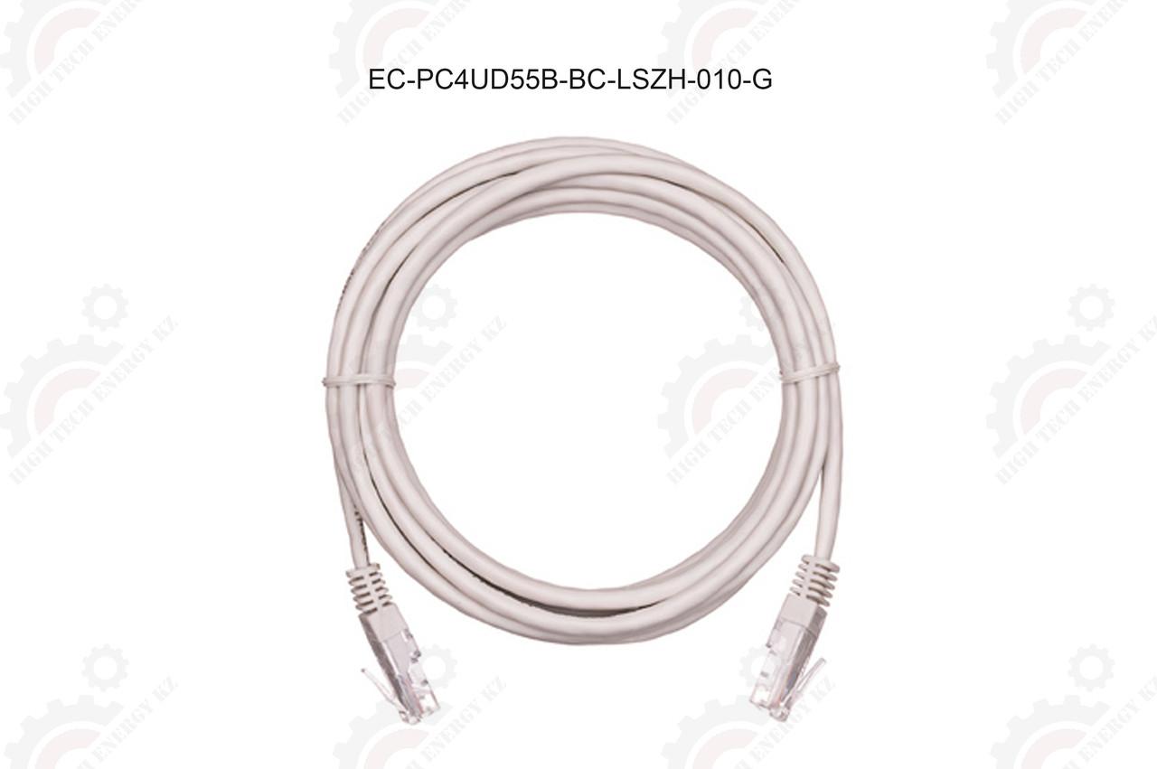 Шнур U/UTP 4 пары, Кат.5e, 2хRJ45/8P8C, T568B, медный, LSZH, серый, 1м.
