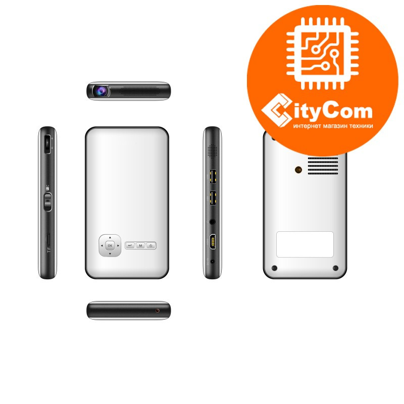 Приставка Android Mini PC с проектором, Smart Projector M6, D02 Арт.4182