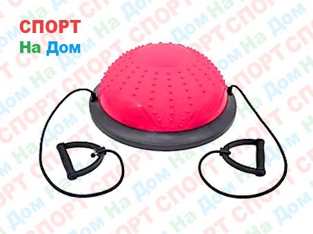 Полусфера гимнастическая с пупырышками, цвет розовый BOSU (диаметр 59 см)