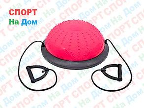 Полусфера гимнастическая с пупырышками, цвет розовый BOSU (диаметр 59 см), фото 2