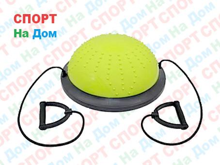 Полусфера гимнастическая с пупырышками, цвет зеленый BOSU (диаметр 59 см)