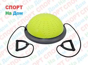 Полусфера гимнастическая с пупырышками, цвет зеленый BOSU (диаметр 59 см), фото 2