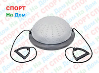 Полусфера гимнастическая с пупырышками, цвет серый BOSU (диаметр 59 см)