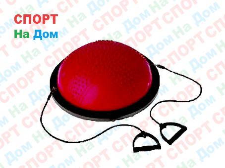 Полусфера гимнастическая с пупырышками, цвет красный BOSU (диаметр 59 см)