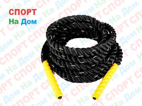 Канат для кроссфита 12 метров диаметр 50 мм. крученный