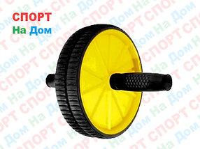 Гимнастический ролик для пресса (колесо 18 см) Желтый
