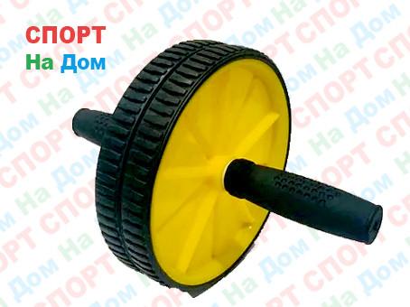 Ролик для пресса 2 колесика (цвет желтый)