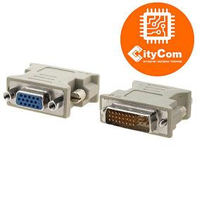 Адаптер (переходник) DVI to VGA. Конвертер. Арт.1033