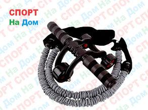 Ролик для пресса 3 колеса с эспандером, фото 2