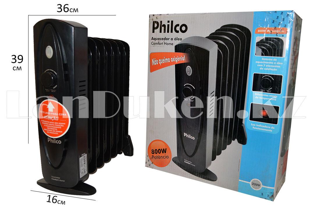 Масляный радиатор Philco 7 секций черный - фото 1