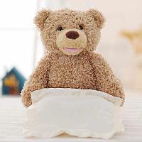 Медвежонок Пикабу Играет В Прятки (озвучка на русс.яз, играет, поднимает полотенце) 26*21см, фото 1