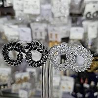 Шикарные Серьги Chopard. Серебро 925 проба, фото 1