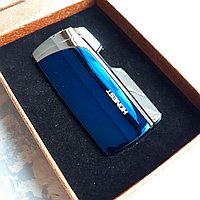 Токовая зажигалка HONEST в подарочной коробке, синяя., фото 1
