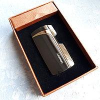 Токовая зажигалка HONEST в подарочной коробке, серая., фото 1