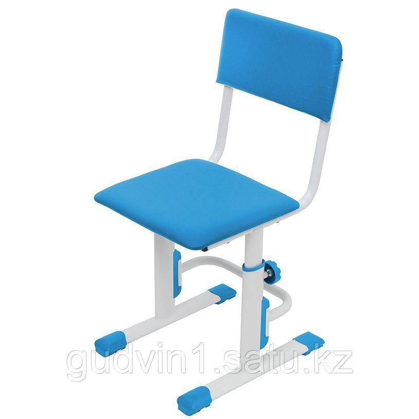 Стул для школьника регулируемый Polini kids City / Polini kids Smart S, белый-синий 01-00195