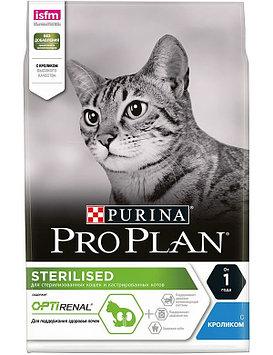 Сухой корм для стерилизованных кошек ПроПлан  с кроликом