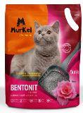 Murkel 10л Роза (круглый) Комкующийся наполнитель для кошачьего туалета, 8кг