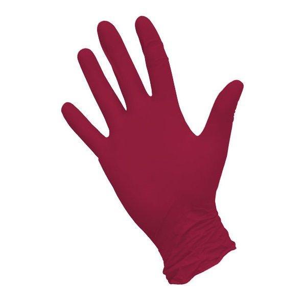 Перчатки нитриловые неопудр., р-р М, красные, 50 шт