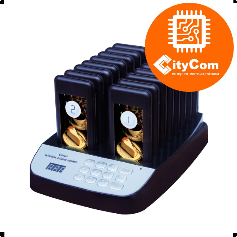 Система оповещения клиентов iBells-610, комплект с 16 пейджерами. Оригинал. Арт.4531 - фото 1