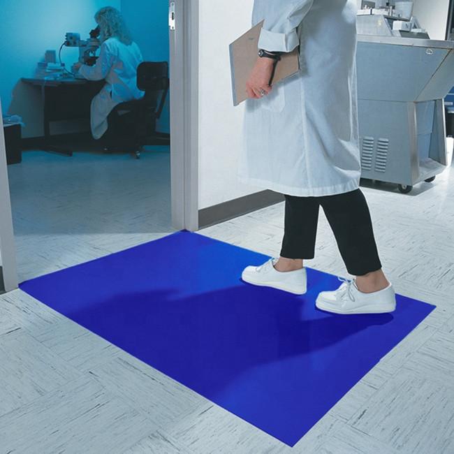 Коврик с липким слоем на пол для удержания механических частиц с обуви, 30 слоев
