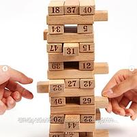 Настольная игра Jenga 54, с цифрами на брусках, фото 3