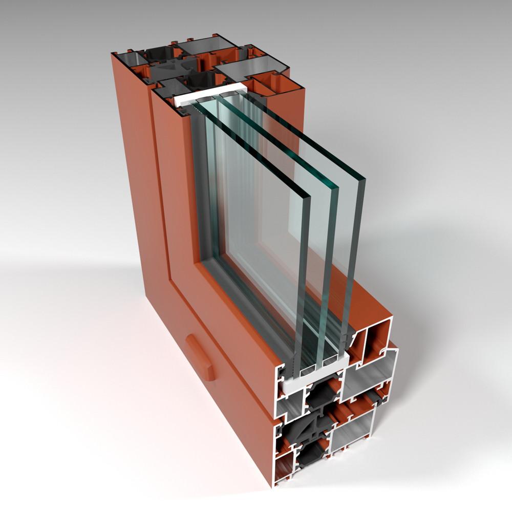Фасадная алюминиевая система с терморазрывом СИАЛ КПТ74 - фото 1
