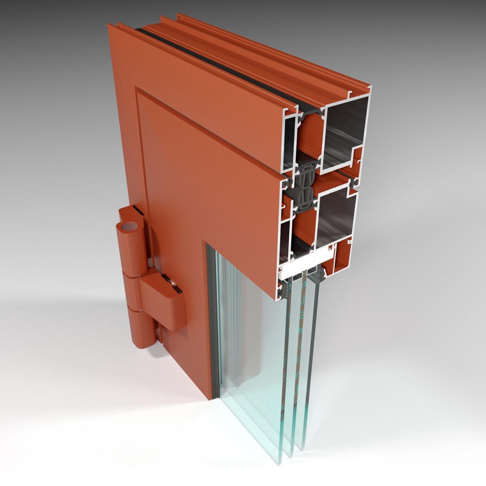 Фасадная алюминиевая система с терморазрывом СИАЛ КПТ74 - фото 2