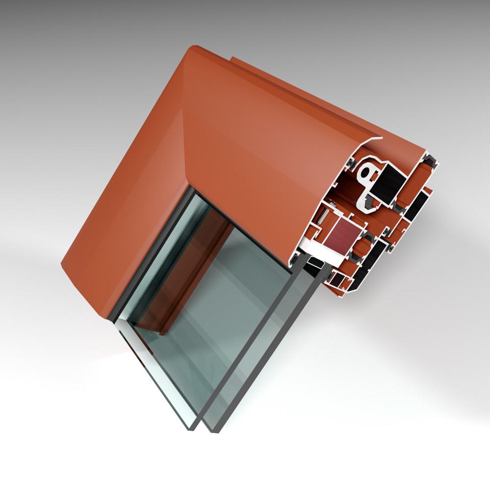 Фасадная алюминиевая система с терморазрывом СИАЛ КПТ74 - фото 3