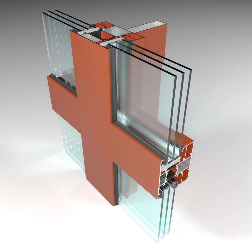 Фасадная алюминиевая система с терморазрывом СИАЛ КПТ74 - фото 5