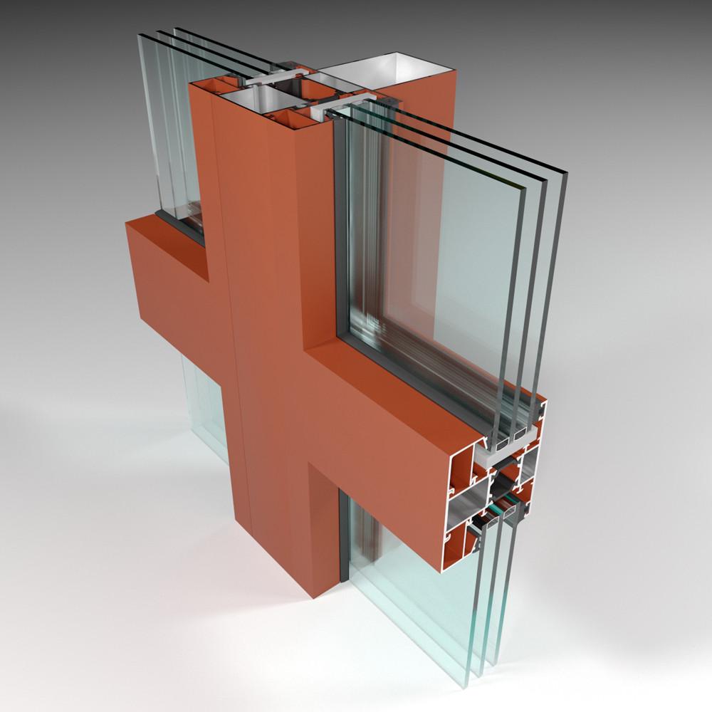 Фасадная алюминиевая система с терморазрывом СИАЛ КПТ74 - фото 6