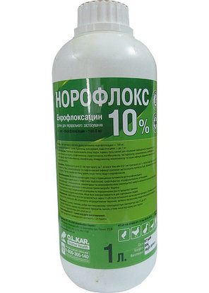 Норофлокс 10% 1 литр  ОРАЛЬНЫЙ РАСТВОР, фото 2