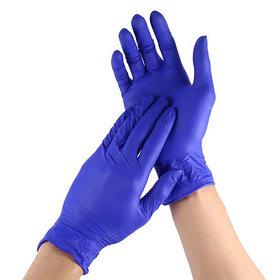 Перчатки нитрил смотровые, нестерильные Синие 50 пар размеры XS,S,M,L.