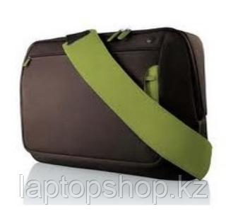 """Сумка для ноутбука 12"""" Belkin up to 12"""" MESSENGER коричневый с зеленой вставкой."""