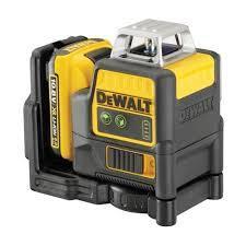 Лазерный уровень аккумуляторный DeWalt, DCE0811D1G, 10,8B (XR Li-Ion), 2x360°