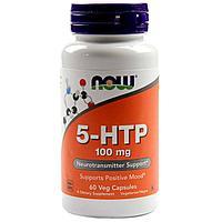 Гриффония (5-HTP), Триптофан (усиленный)100 мг, 60 вегетарианских капсул. Now Foods, фото 1