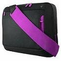 """Сумка для ноутбука 12"""" Belkin up to 12"""" MESSENGER черный с фиолетовой вставкой."""