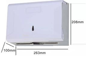 Диспенсер для бумажных полотенец Z укладка белый пластик