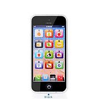 Сенсорный детский телефон, цвет черный