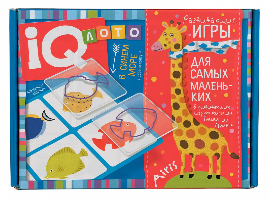 """Развивающие игры для самых маленьких """"IQ лото: Подбери контур. В синем море"""""""