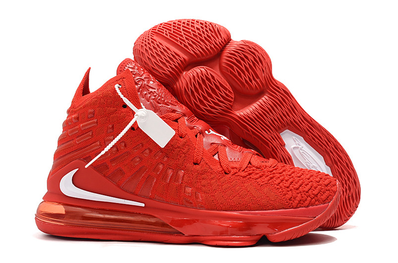 """Игровые кроссовки Nike LeBron XVII (17) """"Red"""" (36-46)"""
