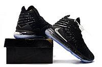 "Игровые кроссовки Nike LeBron XVII (17) ""Black/Silver"" (36-46), фото 3"