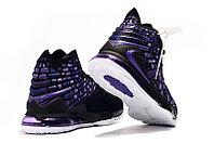 """Игровые кроссовки Nikе LeBron XVII (17) """"Black/Purple"""" (36-46), фото 4"""