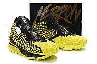 """Игровые кроссовки Nikе LeBron XVII (17) """"Black/Yellow"""" (40-46), фото 6"""