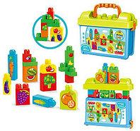 Конструктор Овощи и фрукты в чемоданчике, 30 деталей