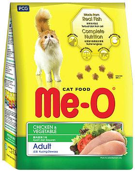 Me-О Сухой корм для взрослых кошек со вкусом Курица и овощи